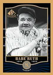 2001 SP Legendary Cuts #78 Babe Ruth