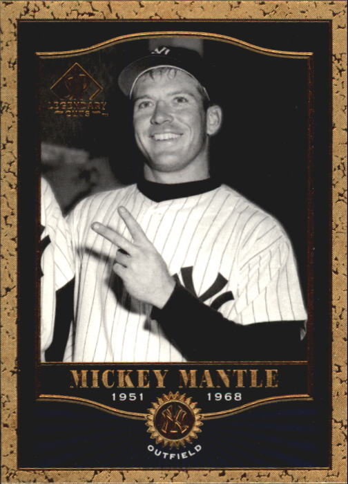 2001 SP Legendary Cuts #84 Mickey Mantle front image