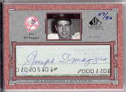 2001 SP Legendary Cuts Autographs #CJD2 Joe DiMaggio/50