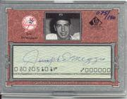 2001 SP Legendary Cuts Autographs #CJD3 Joe DiMaggio/150