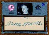 2001 SP Legendary Cuts Autographs #CMM Mickey Mantle/8