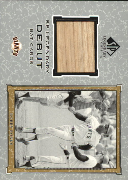 2001 SP Legendary Cuts Debut Game Bat #BBB Bobby Bonds