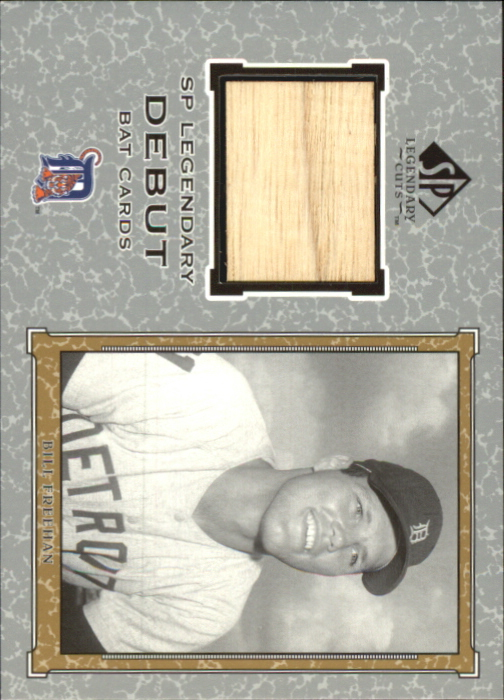 2001 SP Legendary Cuts Debut Game Bat #BBF Bill Freehan