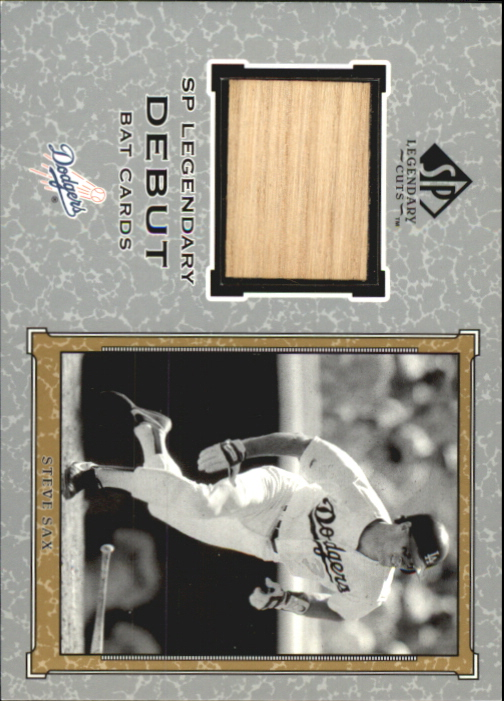 2001 SP Legendary Cuts Debut Game Bat #BSS Steve Sax *