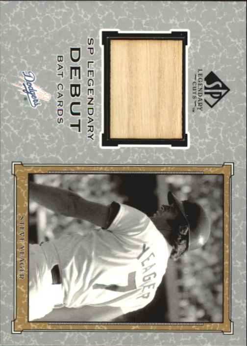 2001 SP Legendary Cuts Debut Game Bat #BSY Steve Yeager