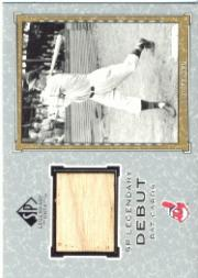 2001 SP Legendary Cuts Debut Game Bat #DBF Bob Feller SP