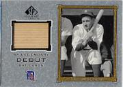 2001 SP Legendary Cuts Debut Game Bat #DCG Charlie Gehringer