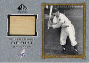2001 SP Legendary Cuts Debut Game Bat #DES Eddie Stanky