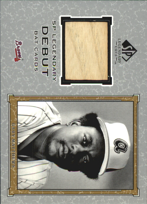 2001 SP Legendary Cuts Debut Game Bat #DGM Gary Matthews