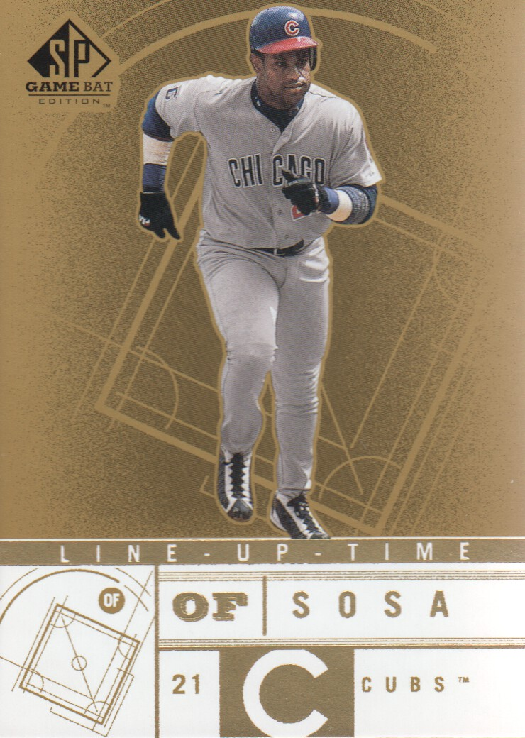 2001 SP Game Bat Edition Line Up Time #LT7 Sammy Sosa