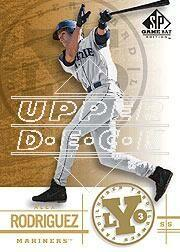 2001 SP Game Bat Edition Lumber Yard #Y4 Alex Rodriguez front image