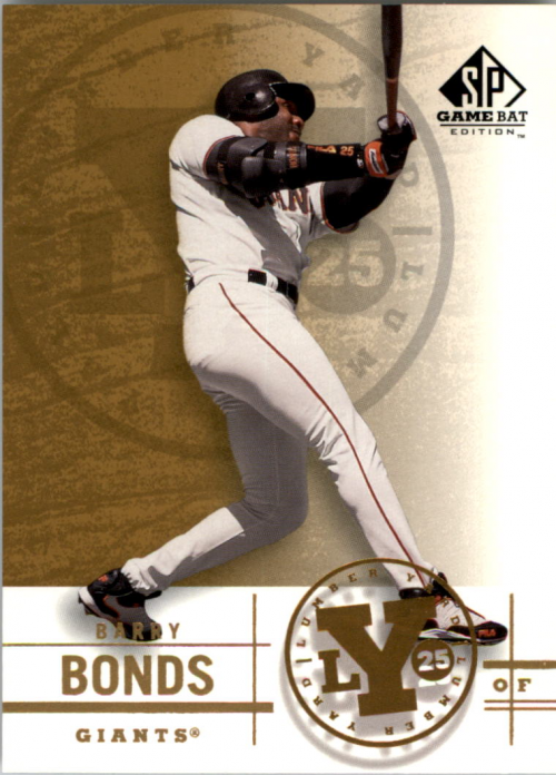 2001 SP Game Bat Edition Lumber Yard #Y6 Barry Bonds