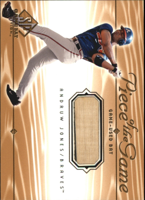 2001 SP Game Bat Edition Piece of the Game #AJ Andruw Jones