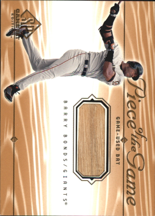 2001 SP Game Bat Edition Piece of the Game #BB Barry Bonds