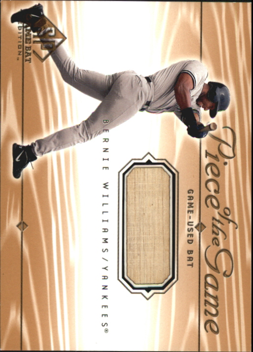 2001 SP Game Bat Edition Piece of the Game #BW Bernie Williams