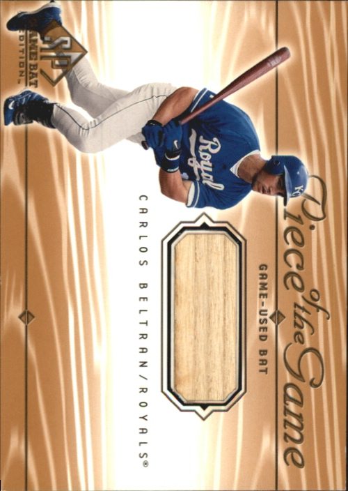 2001 SP Game Bat Edition Piece of the Game #CB Carlos Beltran