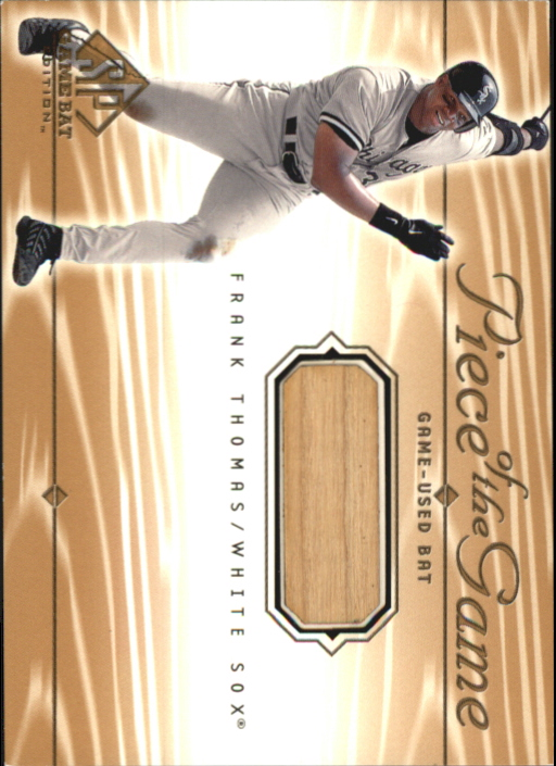 2001 SP Game Bat Edition Piece of the Game #FT Frank Thomas