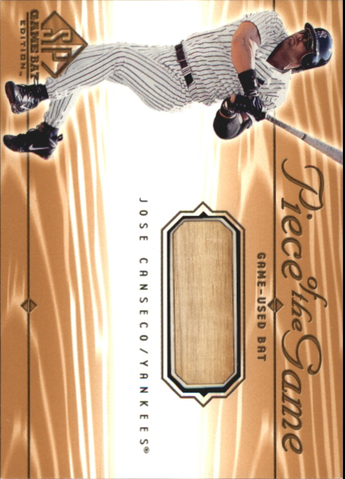2001 SP Game Bat Edition Piece of the Game #JC Jose Canseco