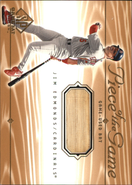 2001 SP Game Bat Edition Piece of the Game #JE Jim Edmonds