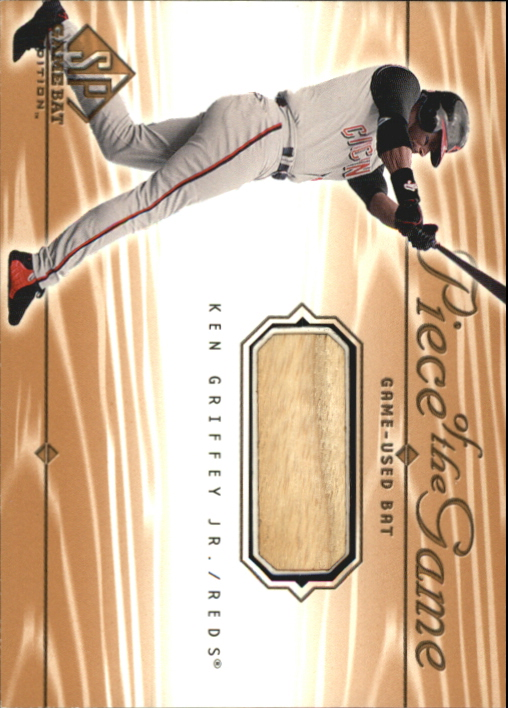 2001 SP Game Bat Edition Piece of the Game #KG Ken Griffey Jr.