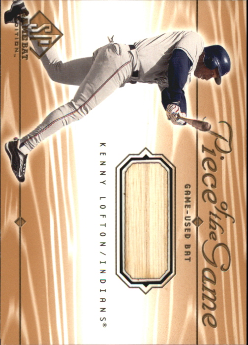 2001 SP Game Bat Edition Piece of the Game #KL Kenny Lofton