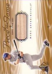 2001 SP Game Bat Edition Piece of the Game #MQ Mark Quinn SP