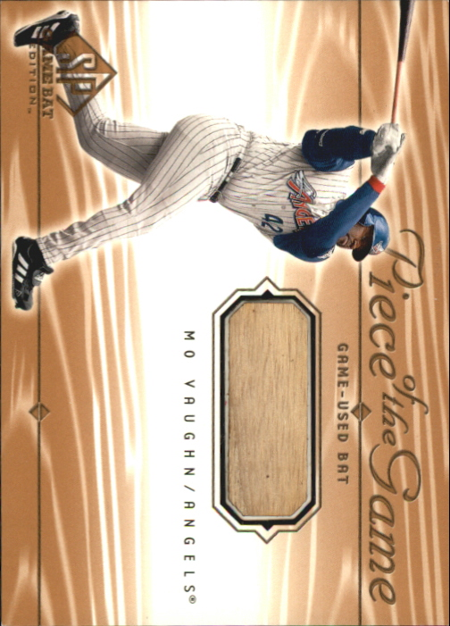 2001 SP Game Bat Edition Piece of the Game #MV Mo Vaughn