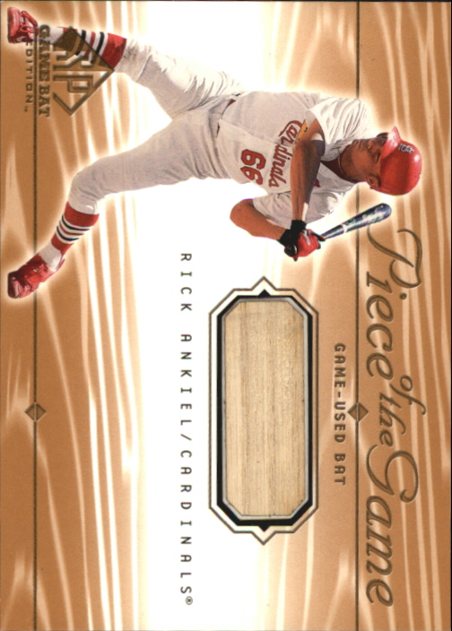 2001 SP Game Bat Edition Piece of the Game #RA Rick Ankiel