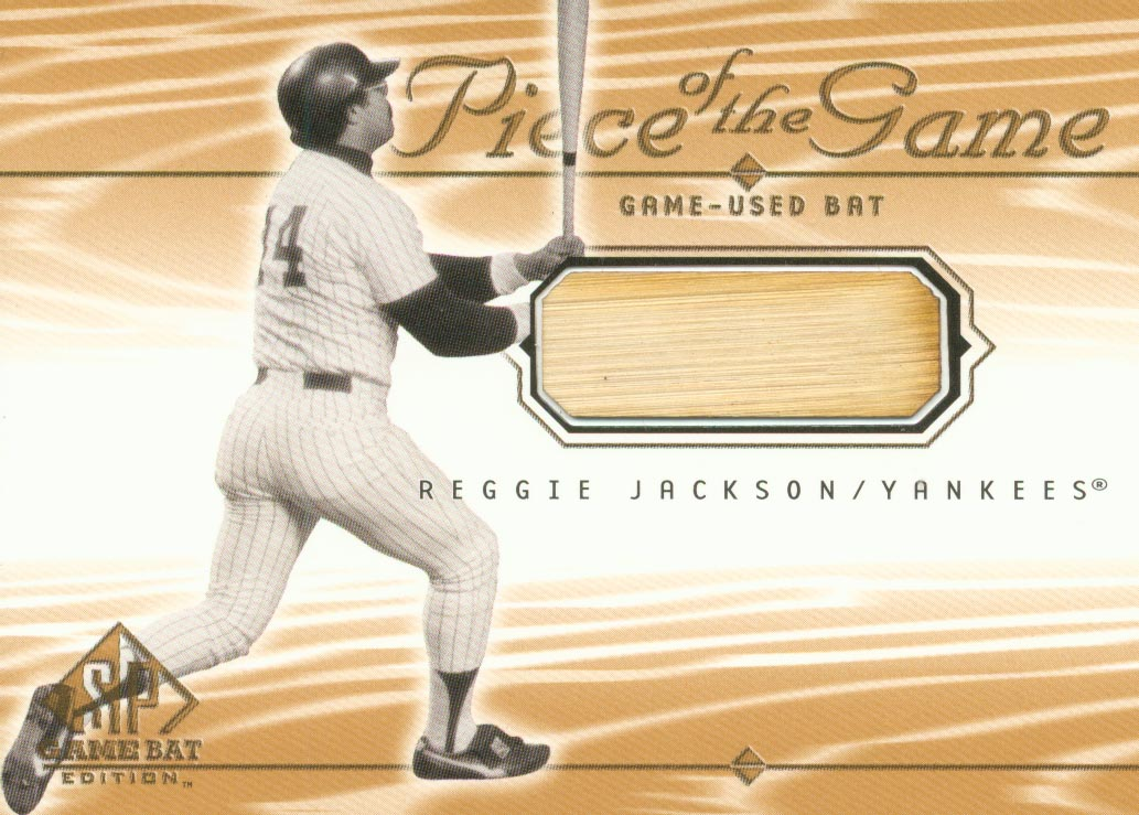 2001 SP Game Bat Edition Piece of the Game #REJ Reggie Jackson SP