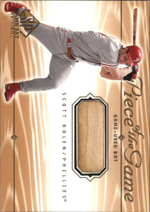 2001 SP Game Bat Edition Piece of the Game #SR Scott Rolen