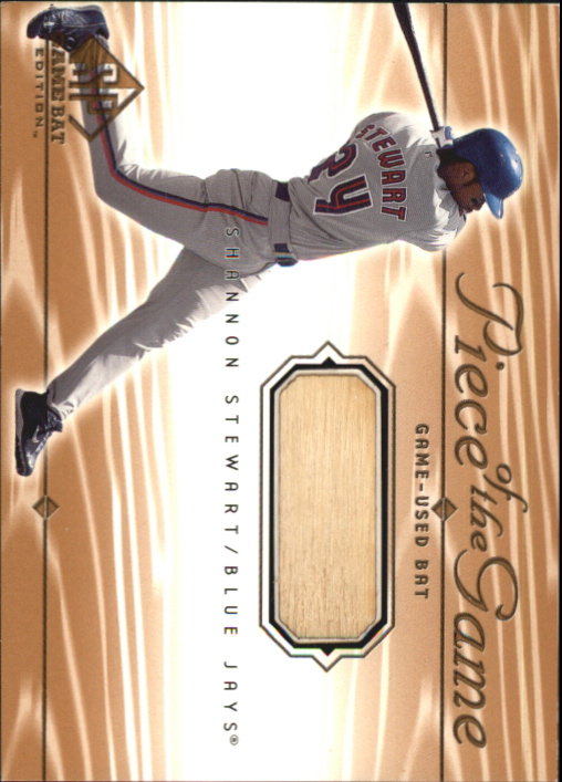 2001 SP Game Bat Edition Piece of the Game #SS Shannon Stewart
