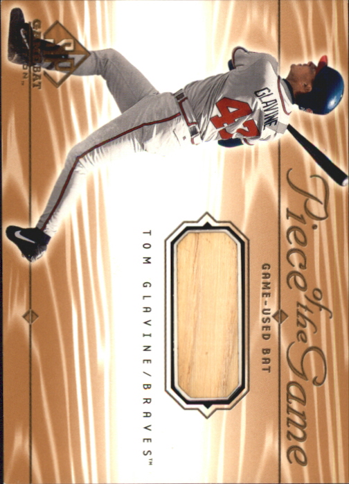 2001 SP Game Bat Edition Piece of the Game #TGL Tom Glavine SP