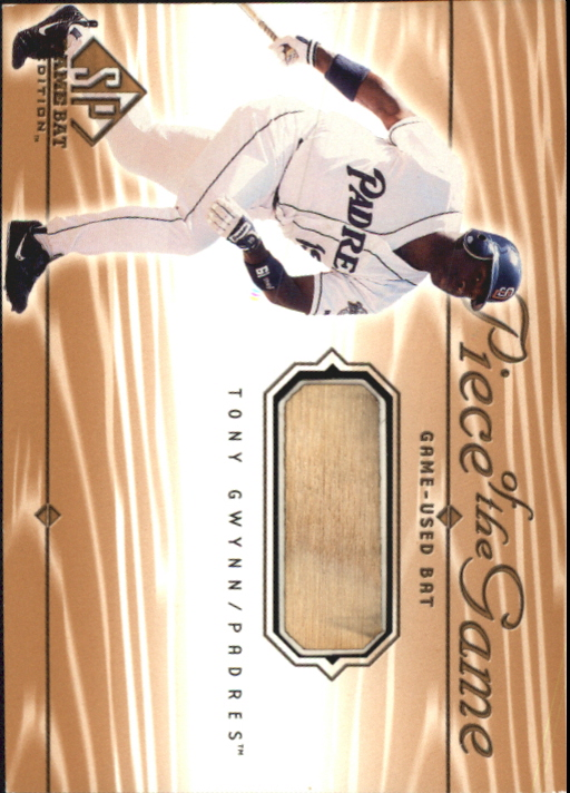 2001 SP Game Bat Edition Piece of the Game #TGW Tony Gwynn