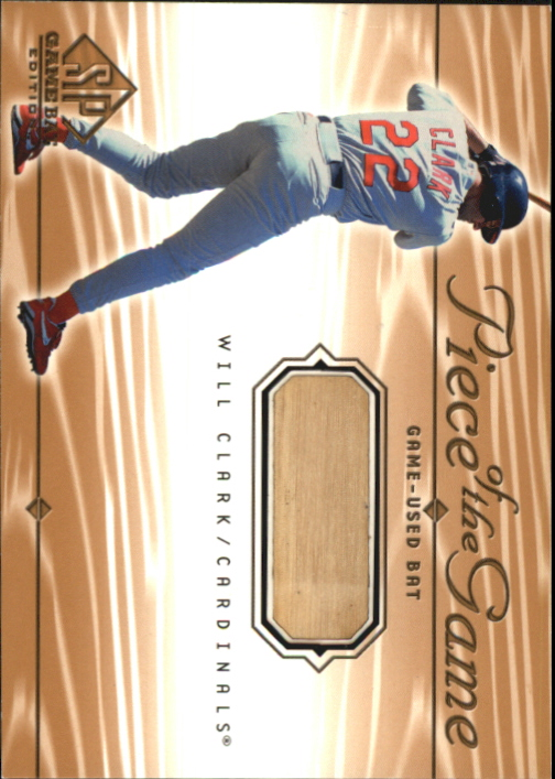 2001 SP Game Bat Edition Piece of the Game #WC Will Clark