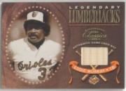 2001 Donruss Classics Legendary Lumberjacks #LL22 Eddie Murray