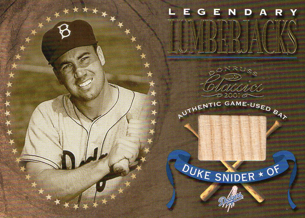 2001 Donruss Classics Legendary Lumberjacks #LL28 Duke Snider SP/300 *