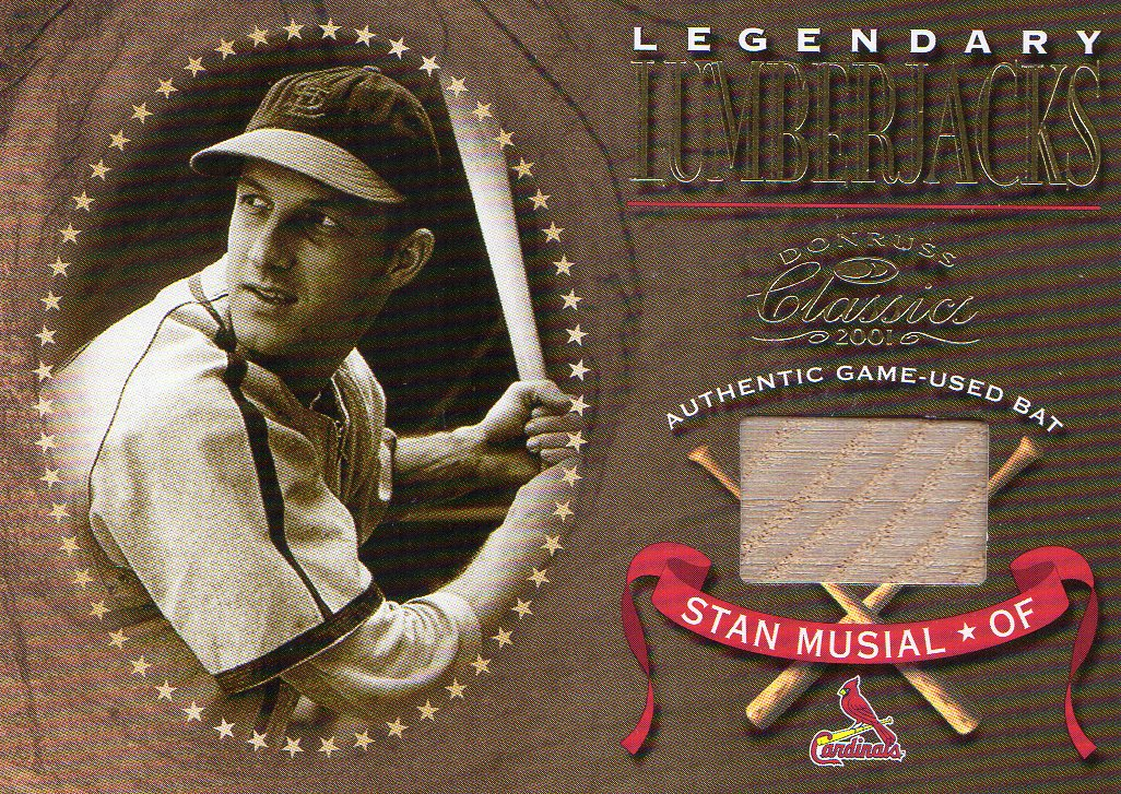 2001 Donruss Classics Legendary Lumberjacks #LL34 Stan Musial SP/300 *