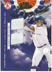 2001 Absolute Memorabilia Home Opener Souvenirs Double #OD12 Manny Ramirez Sox