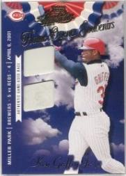 2001 Absolute Memorabilia Home Opener Souvenirs Double #OD24 Ken Griffey Jr.