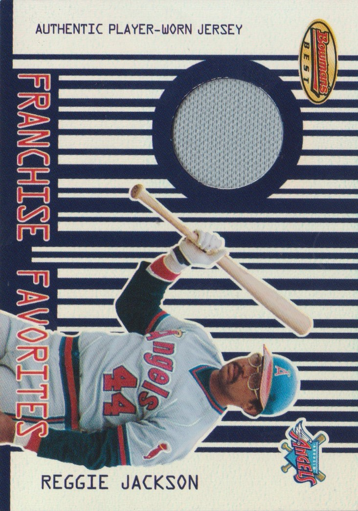 2001 Bowman's Best Franchise Favorites Relics #FFRRJ Reggie Jackson Jsy