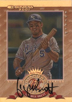 2001 Donruss All-Time Diamond Kings Studio Series Autograph #ATDK6 George Brett