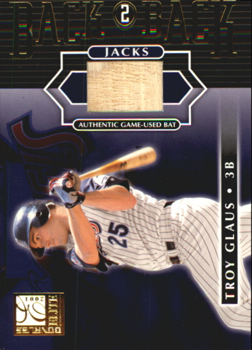 2001 Donruss Elite Back 2 Back Jacks #BB6 Troy Glaus SP/50