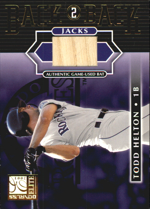 2001 Donruss Elite Back 2 Back Jacks #BB8 Todd Helton