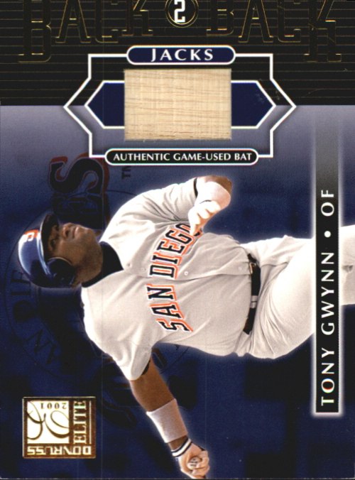 2001 Donruss Elite Back 2 Back Jacks #BB10 Tony Gwynn