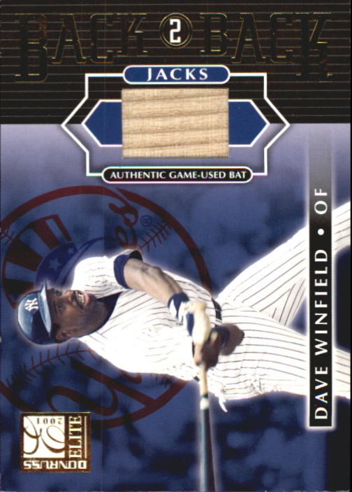 2001 Donruss Elite Back 2 Back Jacks #BB16 Dave Winfield
