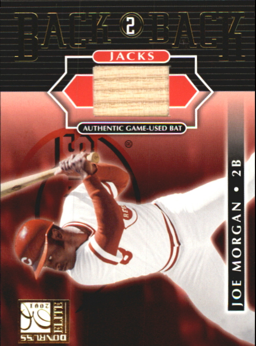 2001 Donruss Elite Back 2 Back Jacks #BB18 Joe Morgan