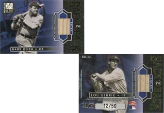 2001 Donruss Elite Back 2 Back Jacks #BB32 Babe Ruth/Lou Gehrig