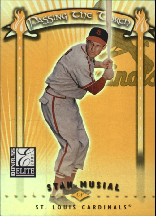 2001 Donruss Elite Passing the Torch #PT1 Stan Musial