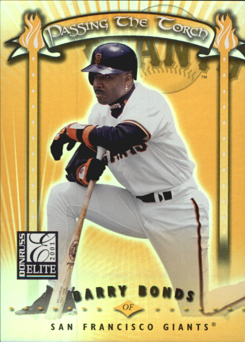 2001 Donruss Elite Passing the Torch #PT4 Barry Bonds