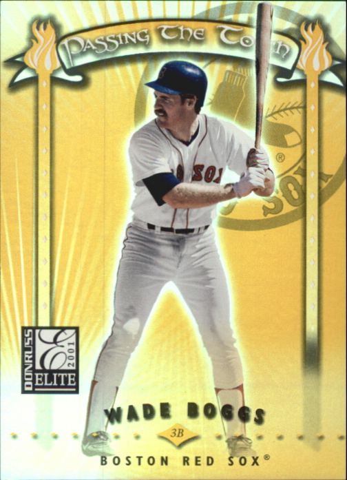 2001 Donruss Elite Passing the Torch #PT13 Wade Boggs